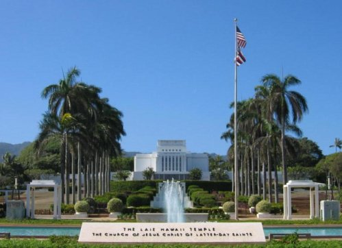 The Mormon Temple in Hawaii