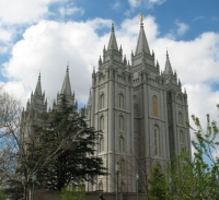 O templo Mórmon em Salt Lake City