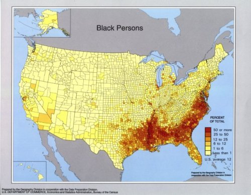 The distribution of African Americans in the United States