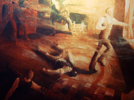 Joseph Smith and his brother Hyrum were killed by an angry mob in Carthage, Illinois.